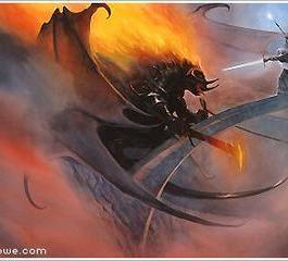 Gandalf face au Balrog dans la Moria