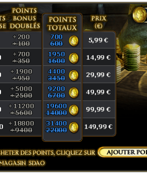 Semaine Double Points Bonus