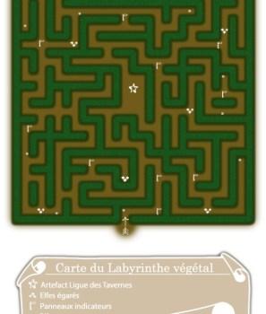 Carte du Labyrinthe végétal
