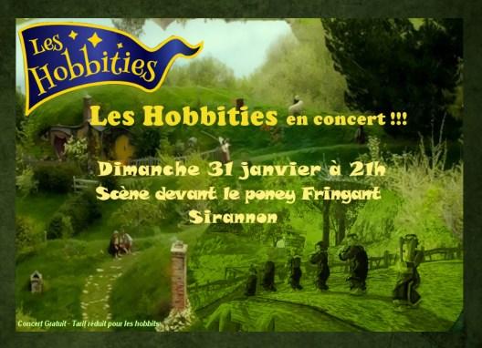 Affiche Hobbities 31 janvier