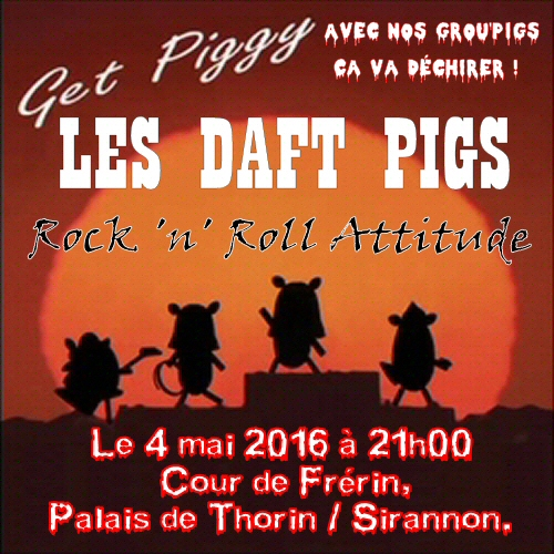 Concert Daft Pigs 4 mai