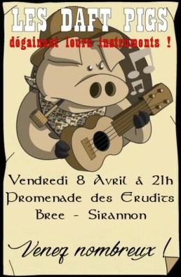 Concert Daft Pigs 8 avril