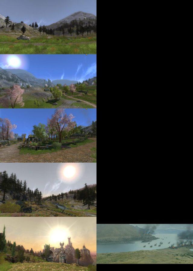 Comparaison Gondor Films / LOTRO