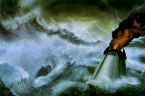 La submersion de Númenor - John Howe