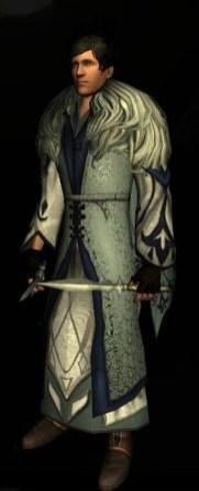 Robe ornée de l'hiver / bleu belegaer