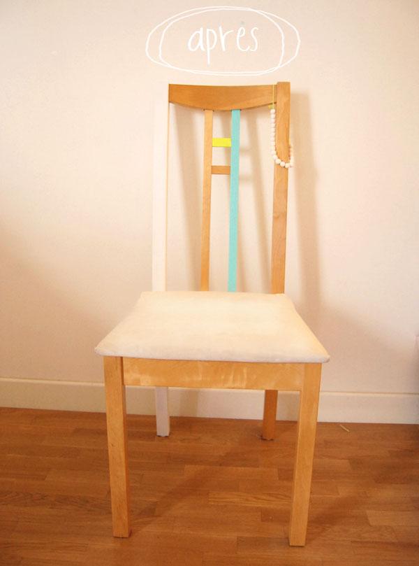 diy peindre une chaise en bois les