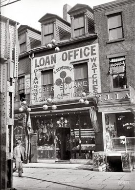 prêteur sur gage usa 1920