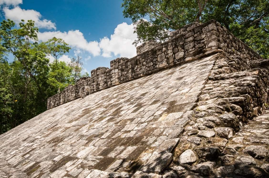 mur pelote, à coba - mexique