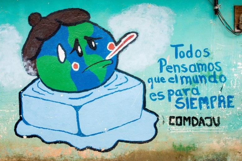 Murale de sensibilisation sur les changements climatiques