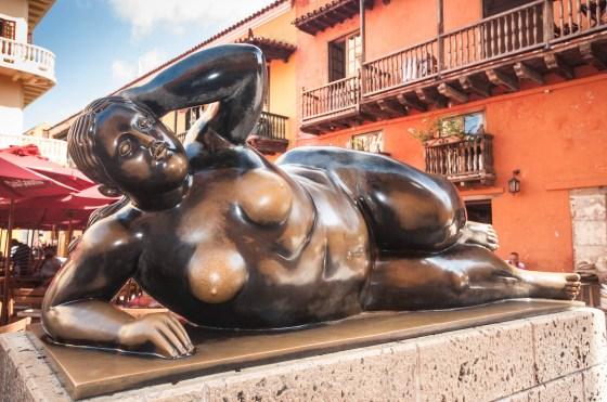 Sculpture de Botero côté pile