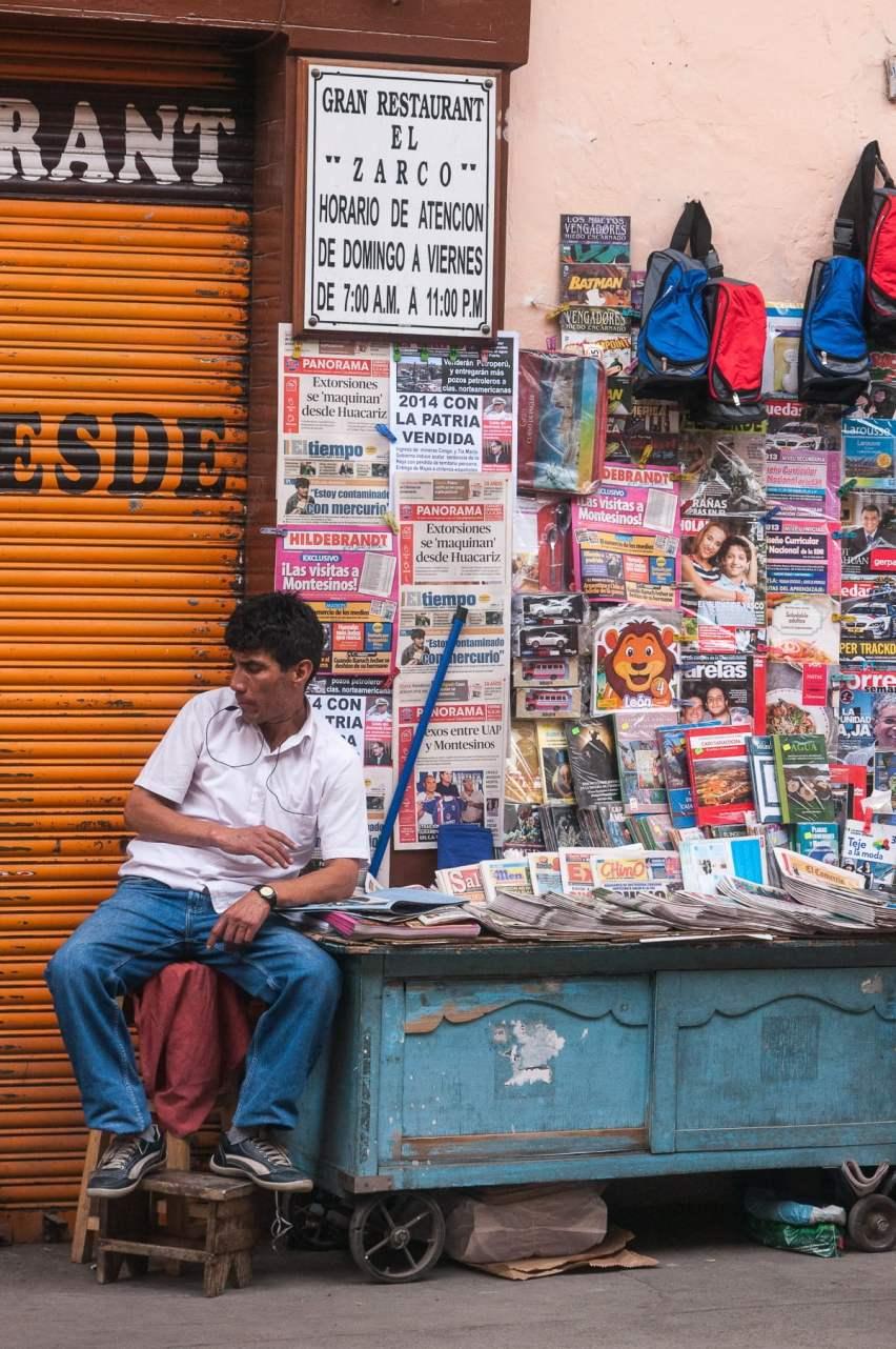Vendeur de magazine