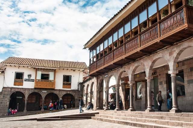 patrimoine, balcon, arcade