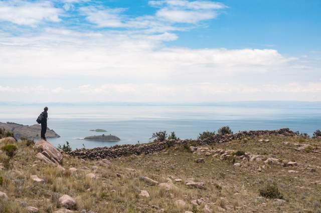 Vue sur le lac titicaca