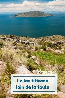 Le lac titicaca loin de la foule