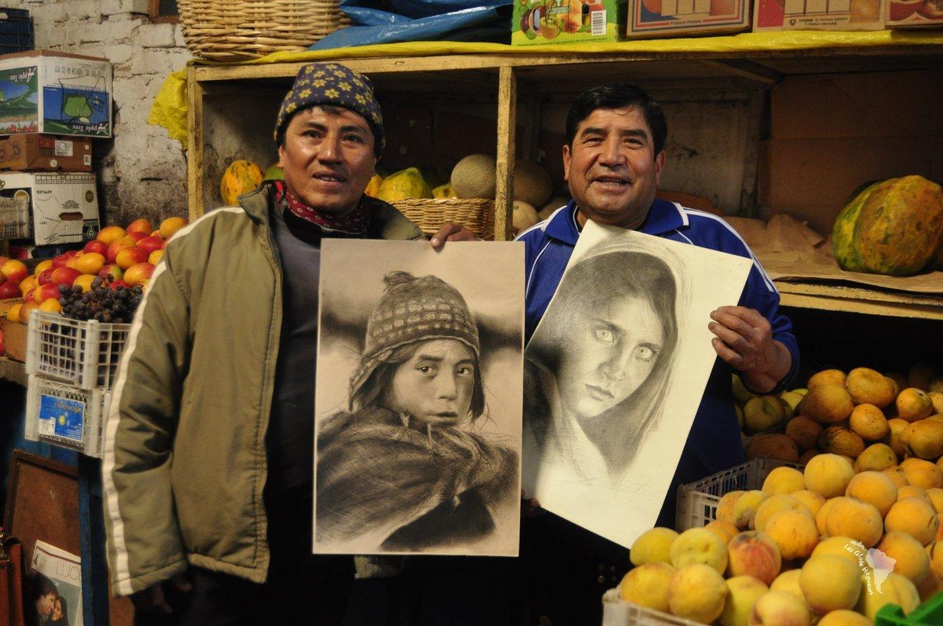 bonnet péruvien marché artiste