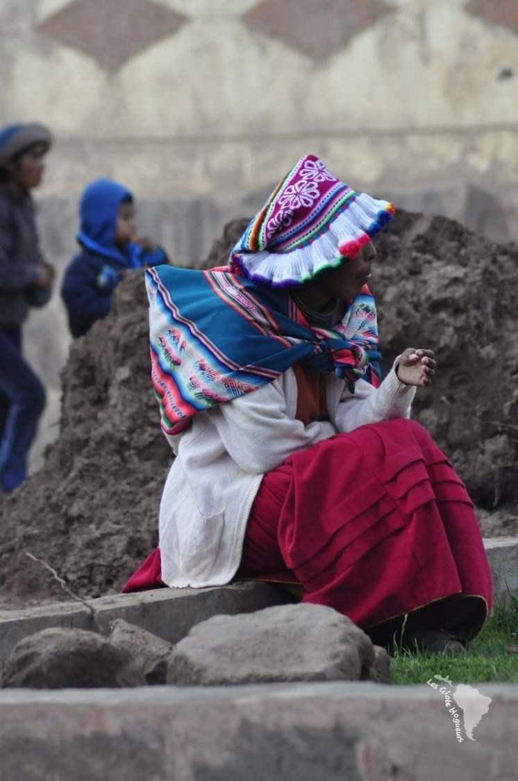 Bonnet de la péninsule de Capachica pour les jeunes filles