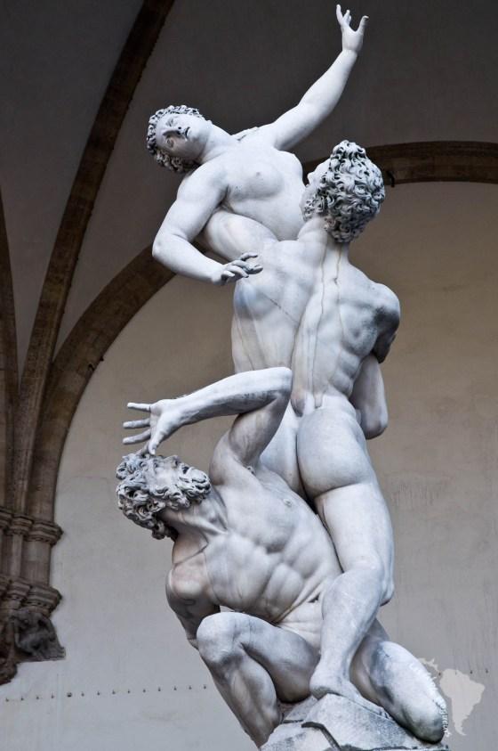 L'enlèvement des Sabines de Giambologna