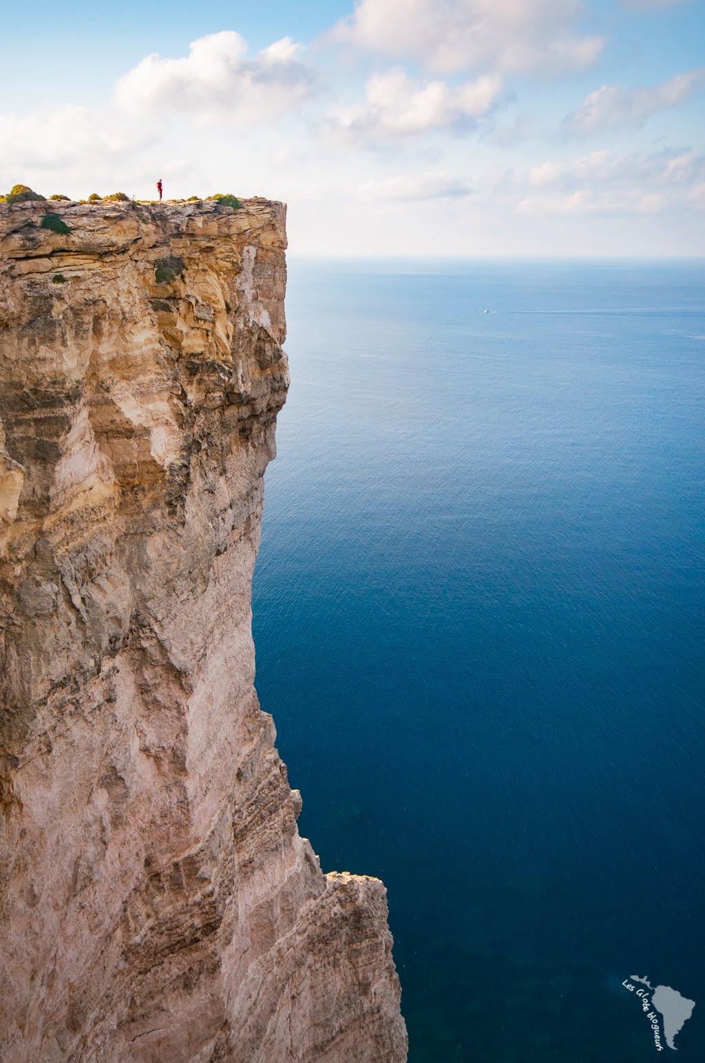 Le gars en haut de la falaise, c'est bien moi ! Mais n'allez pas croire que j'étais près du bord...