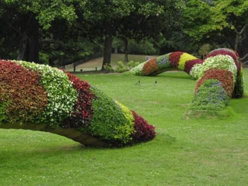 Création végétale de Claude Ponti - Le serpent au Parc de Procé - Voyage à Nantes 2015