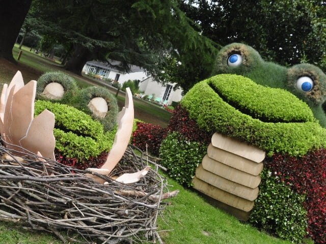 Création végétale de Claude Ponti - Les grenouilles - Voyage à Nantes 2015