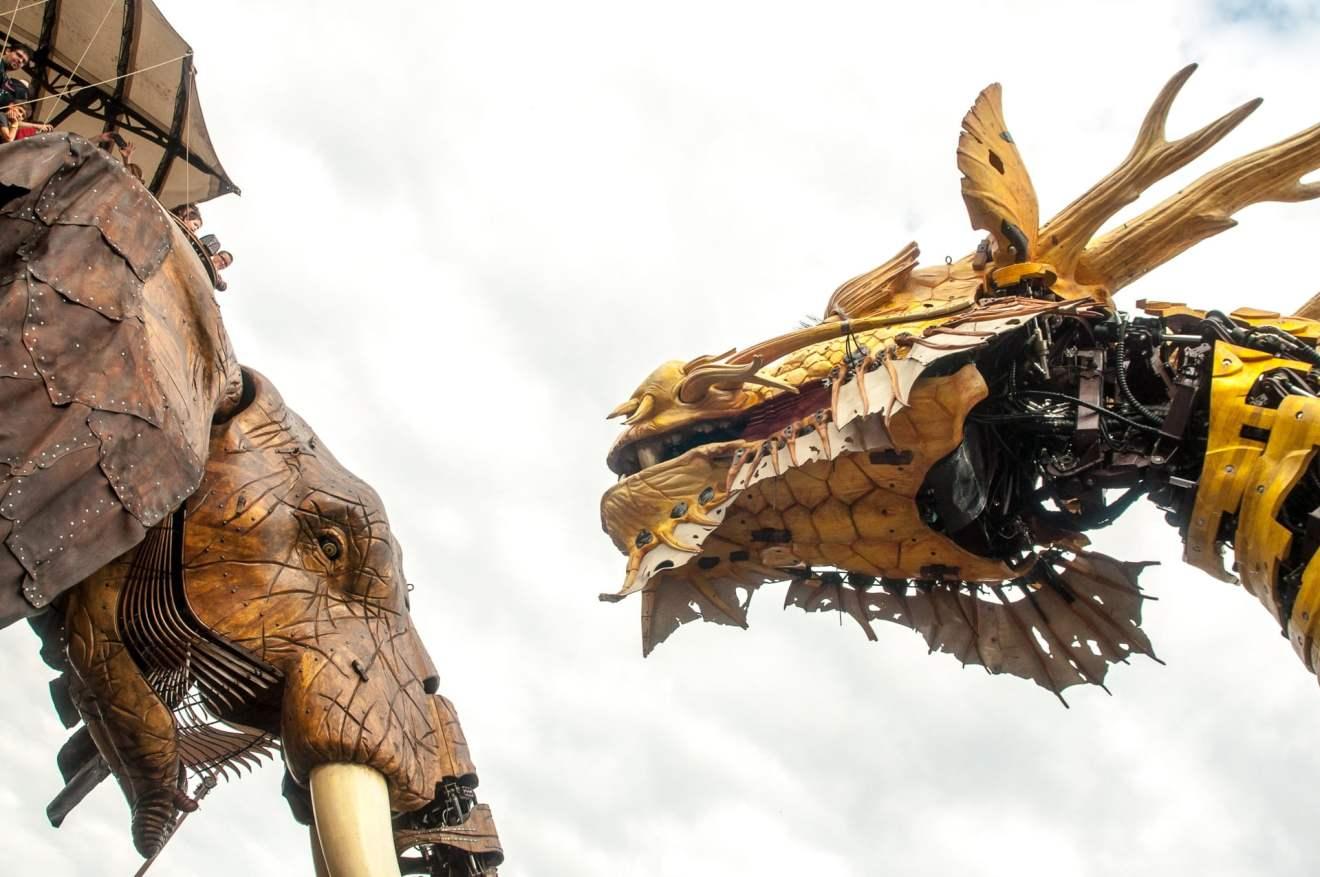 éléphant et dragon