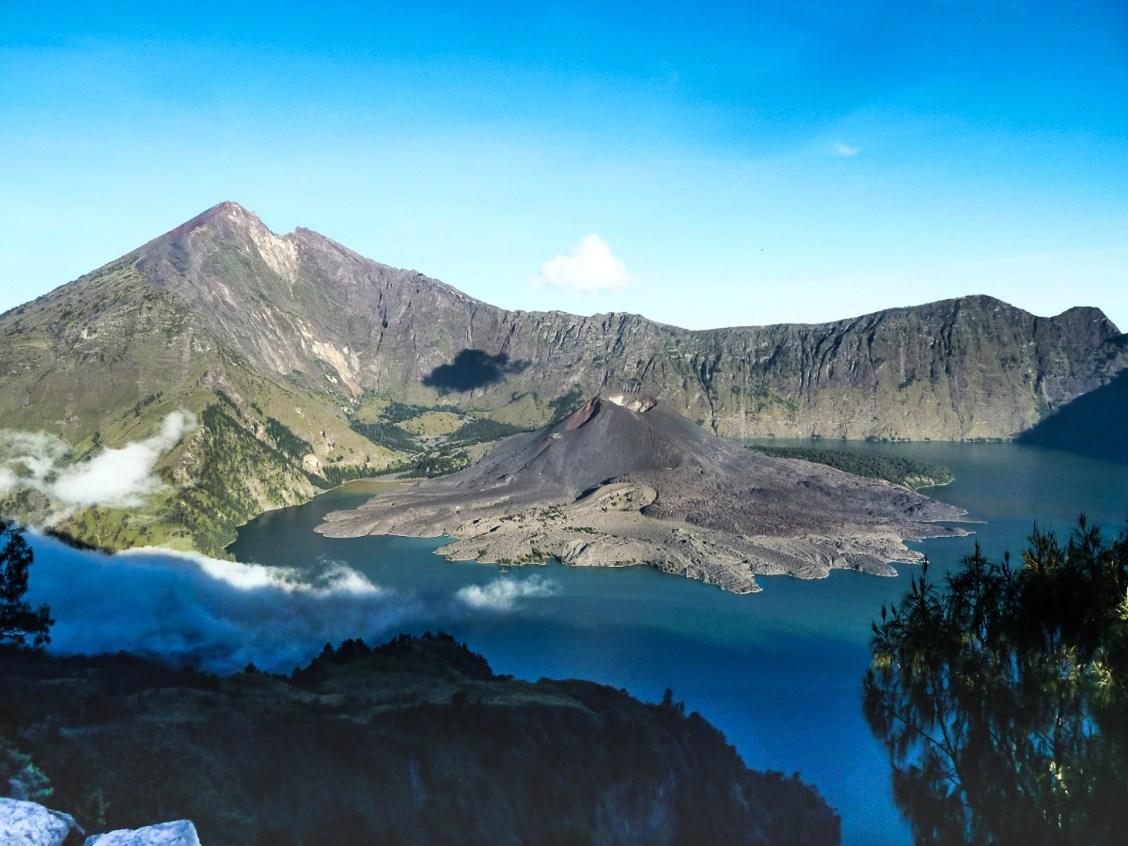 mont rinjani à lombok en indonésie