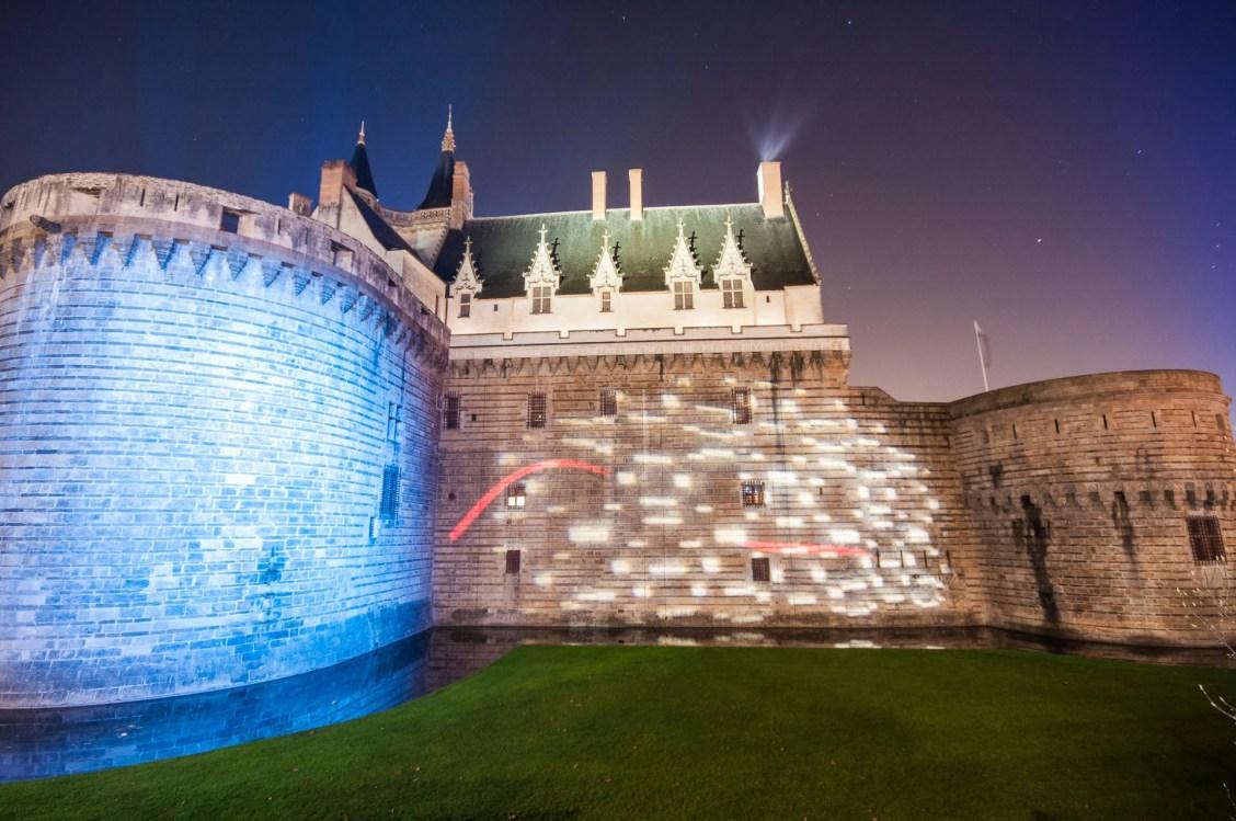Château de Nantes, la nuit