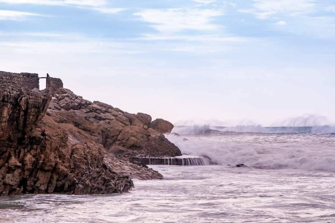 côte lisbonne praia guinchos vagues
