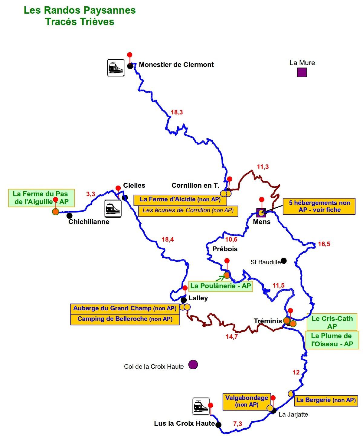 itinéraire randos paysannes trièves en Isère