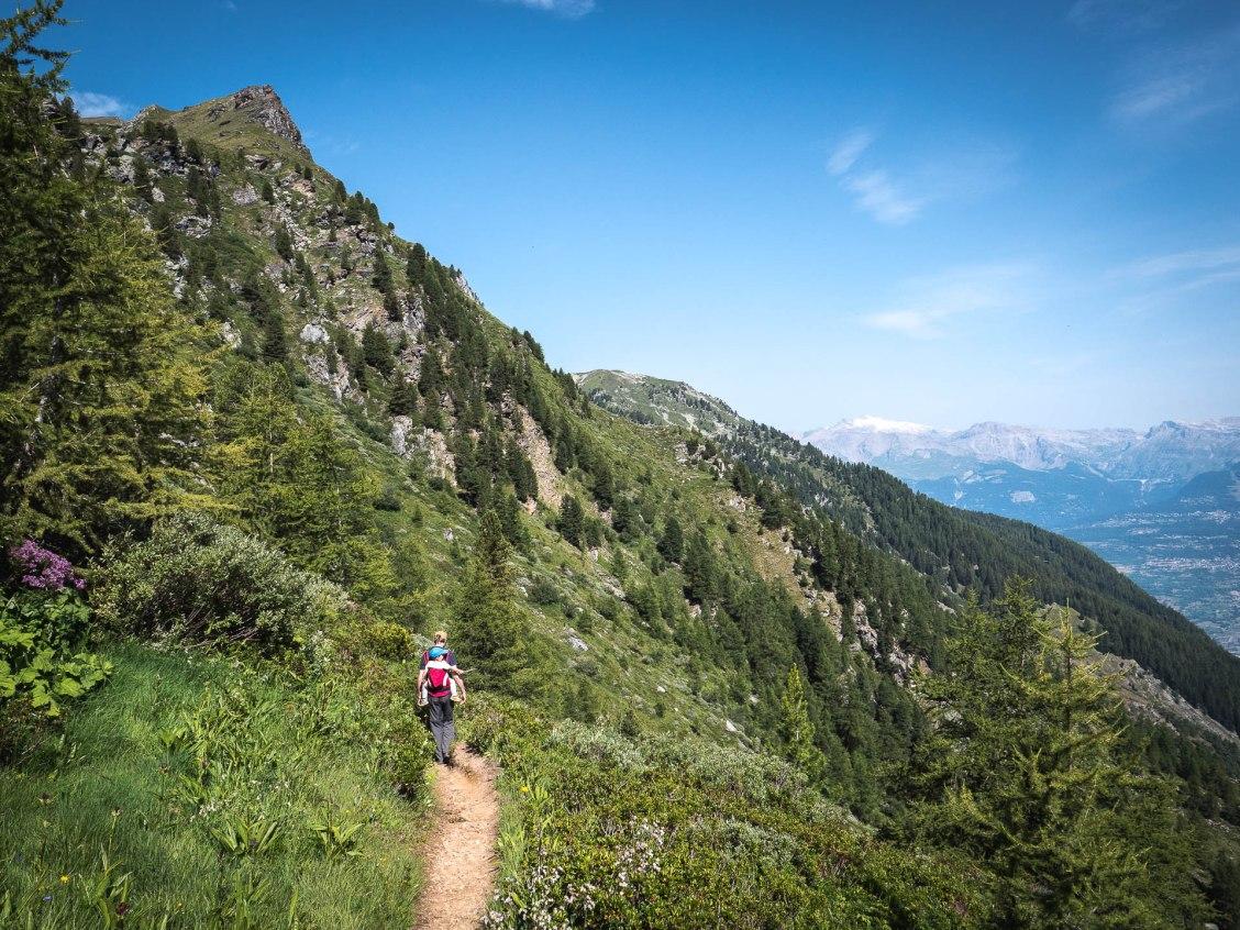 Découvrir un espace naturel préservé, le vallon de Réchy au coeur du Val d'anniviers dans le Valais en Suisse.