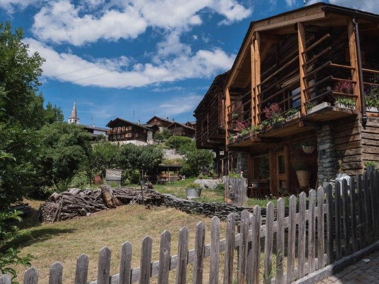 Mase village val d'herens en suisse