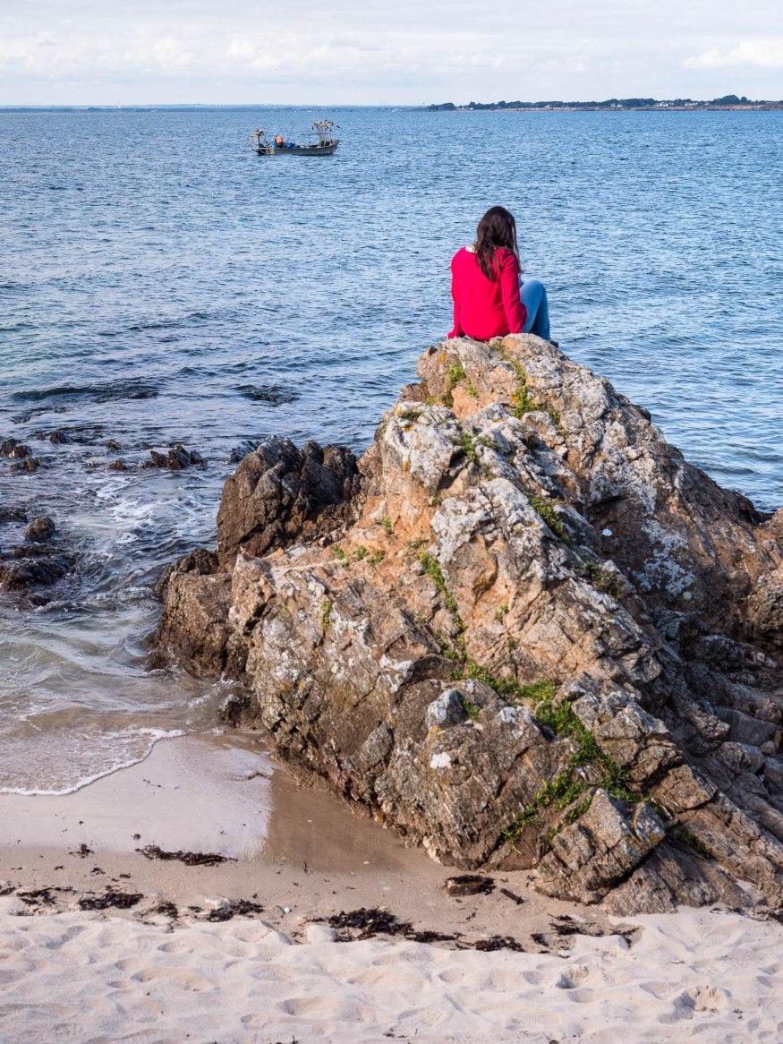 Plage à la Pointe de la Croix à Piriac en Loire atlantique