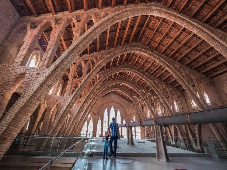 cathédrale du vin de Pinell de brai en catalogne