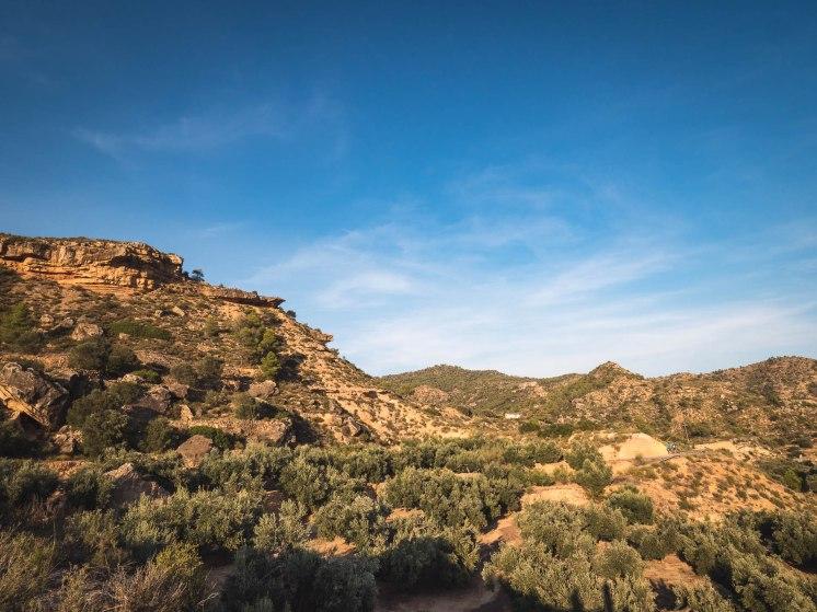 Paysages des terres de l'Ebre en Catalogne