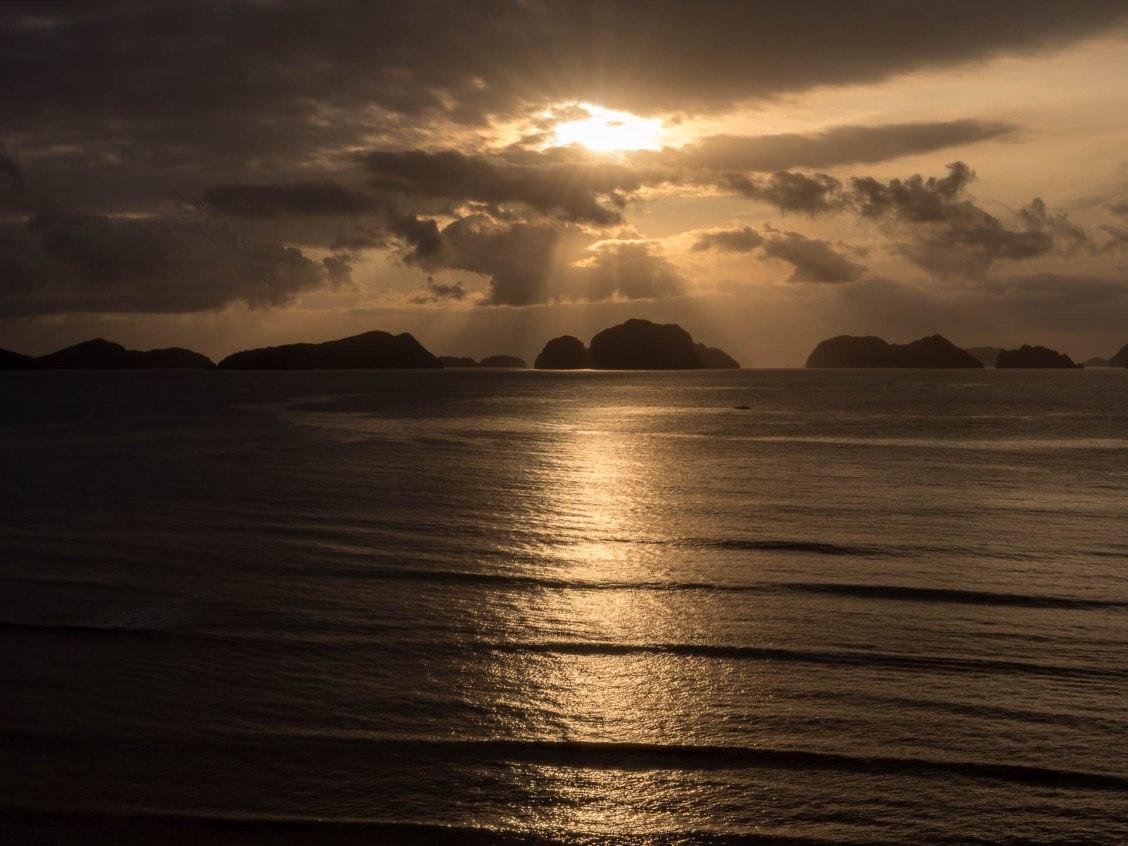 coucher soleil archipel de bacuit el nido