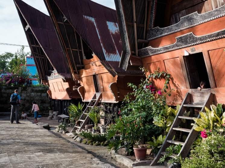Architecture Batak à sumatra en Indonésie