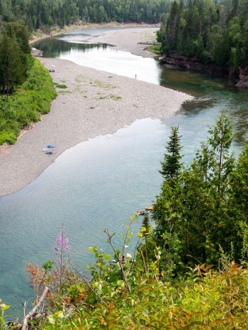 Site du malin sur la rivière Bonaventure dans la baie des chaleurs