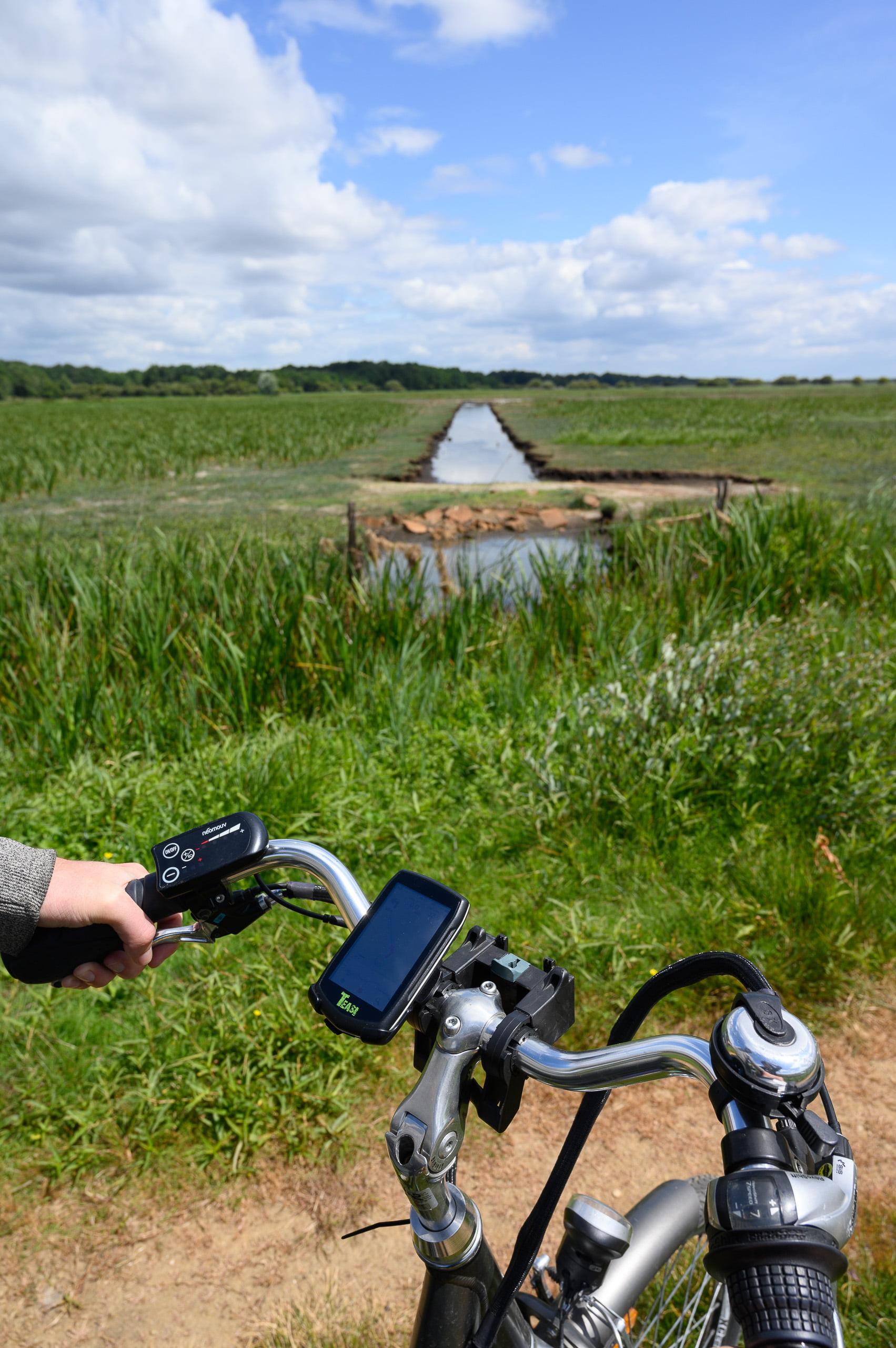 itinéraire vélo tour lac grand lieu