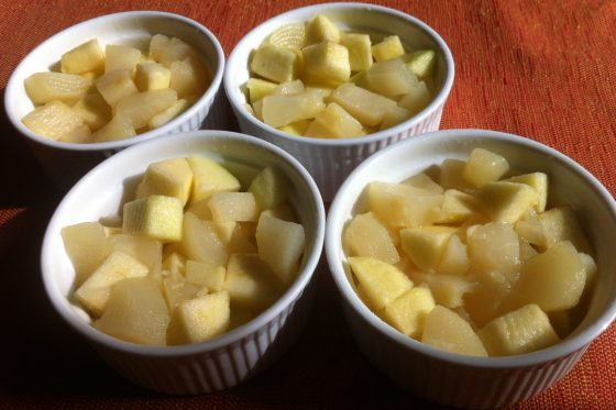 Le Crumble Pommes, Poires et Chocolat