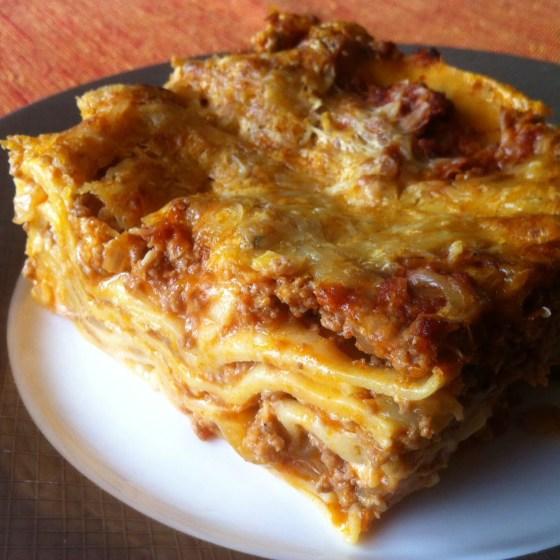 Les lasagnes à la bolognaise