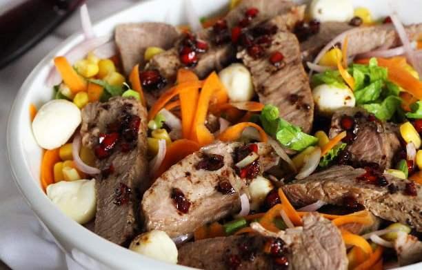 Salade piquante (ou pas!) au veau