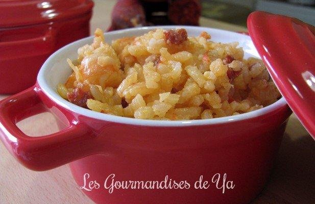 Risotto au chorizo, tomates et crevettes LGY
