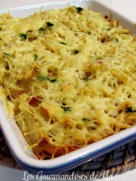Gratin de pâtes, allumettes et béchamel au beurre d'escargots LGY 01
