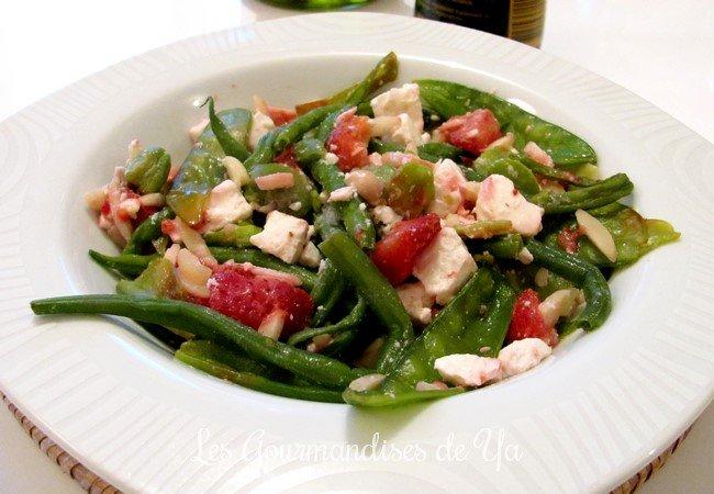 Haricots gourmands, fraises et féta de Norbert Tarayre LGY