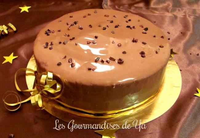 Entremets chocolat - caramel beurre salé