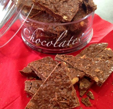 Bouchées croustillantes chocolat, cacahuète, noisette et Nutella LGY