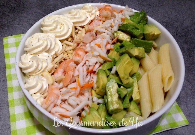 Salade avocat, crevette et mascarpone LGY
