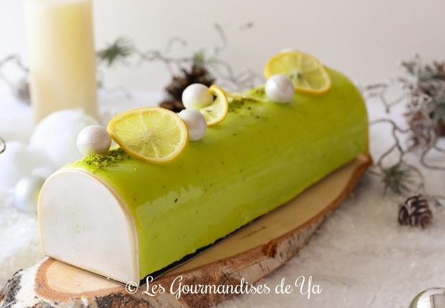 Bûche Citron et Pistache LGY 01