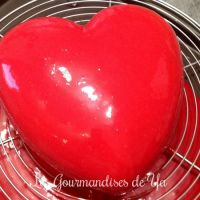 Coeur d'amour amande - framboise LGY 01