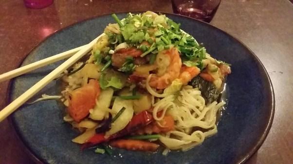 Pho Xao aux crevettes